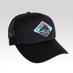 Fisherman's cap with curved...