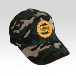 Camouflage cap with curved...